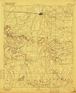 YellowMaps Abilene TX topo map, 1:125000 Scale, 30 X 30 Minute, Historical, 1892, Updated 1916, 19.8 x 16.3 in