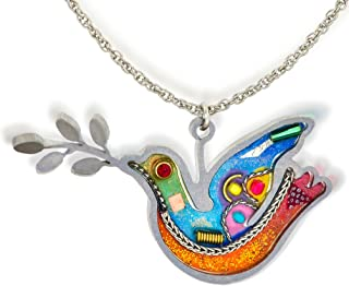 white dove necklace