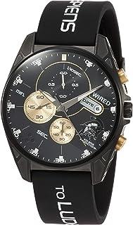 [セイコーウォッチ] 腕時計 ワイアード コジマプロダクション コラボ限定 限定1,500本(国内のみ) ルーデンスモチーフ クロノグラフ付き ブラック文字盤 カーブハードレックス AGAT729 メンズ ブラック