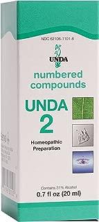 UNDA - UNDA 2 Numbered Compounds - Homeopathic Preparation - 0.7 fl oz (20 ml)
