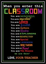 Classroom Door Poster Laminated Student Inspirational Posters for Middle School Elementary School & High School| to Build Confidence in Students| Huge 17.5 X 24 Fully Laminated by School Smarts