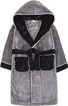 Childrens Boys Kids Robe Dressing Gown Plush Contrast Nightwear Sleepwear New