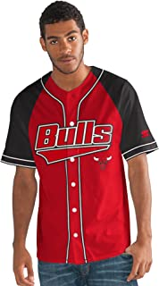Starter Adult Men The Player Baseball Jersey, Red, X-Large