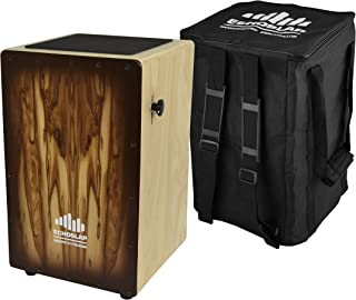 Echoslap Siam Oak Adjustable Snare Hand Crafted Cajon Siam Oak Body, Attractive Sandalwood Frontplate + Free Gigbag