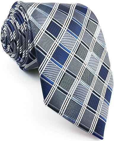 shlax&wing S&W Ties Herren Krawatte Azul y Gris a cuadros ...