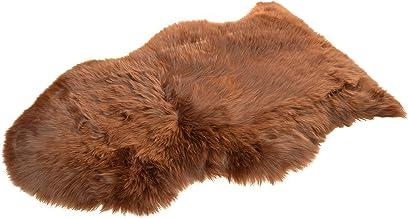 Naturasan Premium Schaffell Lammfell Langhaar Naturfell Teppich, Dekofell, Lounge Style, Sitzauflage, Läufer, Vorleger Camel/Mittelbraun, 110-120cm
