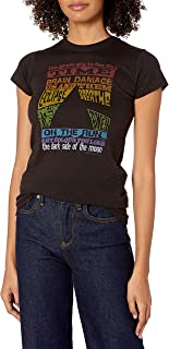 Liquid Blue Women's Pink Floyd Dark Side Tracks Juniors Graphic Tee