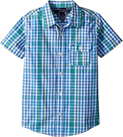 Tommy Hilfiger Kids Short Sleeve Chris Yarn-Dye Plaid Shirt (Toddler/Little Kids)