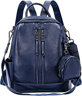 Backpack Purse for Women Ladies Rucksack Genuine Leather Versatile Shoulder Bags with Coin Purse