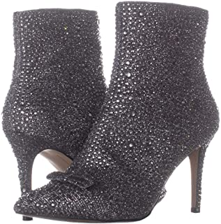 INC International Concepts Ignacia Rhinestone Booties Dark Pewter 6.5M
