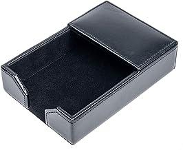 "Dacasso Black Bonded Leather 4"" x 6"" Memo Holder"