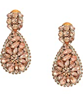 Oscar de la Renta - Jeweled Teardrop C Earrings