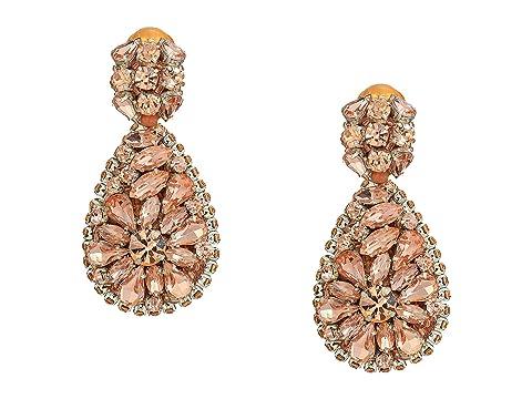 Oscar de la Renta Jeweled Teardrop C Earrings