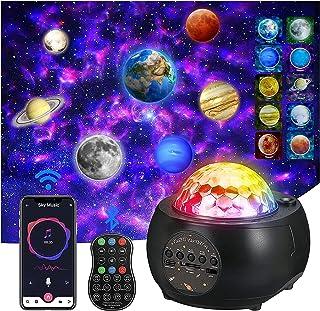 star projector كشاف ضوئي قاد. سماء النجوم (2021) 3 في 1، جالاكسي ضوء العارض، ضوء ضوء الليل مع 32 لون وطرق خفيفة للأطفال وا...