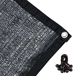 Agfabric 50% Sunblock Shade Cloth with Grommets for Garden Patio 6.5' X 20', Black