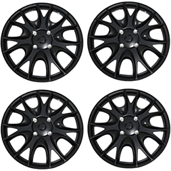 Type Matte Black Wheel Covers Hub-caps 16-Inches Style 610 Snap-On Tuningpros WC3-16-610-B Pop-On Pack of 4 Hubcaps