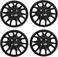 Tuningpros WC3-15-3533-B - Pack of 4 Hubcaps - 15-Inches Style 3533 Snap-On (Pop-On) Type Matte Black Wheel Covers Hub-caps