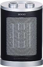 SOGO Calefactor, Negro, 17 x 13 x24,5 cm
