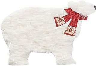 American Greetings Polar Bear Christmas Greeting Card with Fur