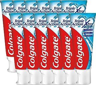 Colgate Triple Action Whitening Tandpasta - 12 x 75ml - Voordeelverpakking