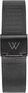 Wristology Metal Mesh Watch Band - Quick Release Milanese Stainless Steel Easy Change Mens Womens Strap - Choose Color and Finish