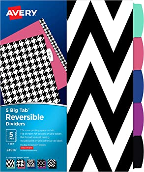 Avery 5 Tab Reversible Fashion Binder Dividers