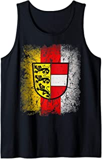 Carinthia T-Shirt with Coat of Arms and Flag Retro Kaernten Tank Top