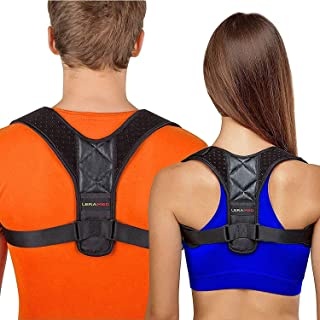 Posture Corrector for Men and Women - Adjustable Upper Back Brace for Clavicle Support and Providing Pain Relief from Nec...