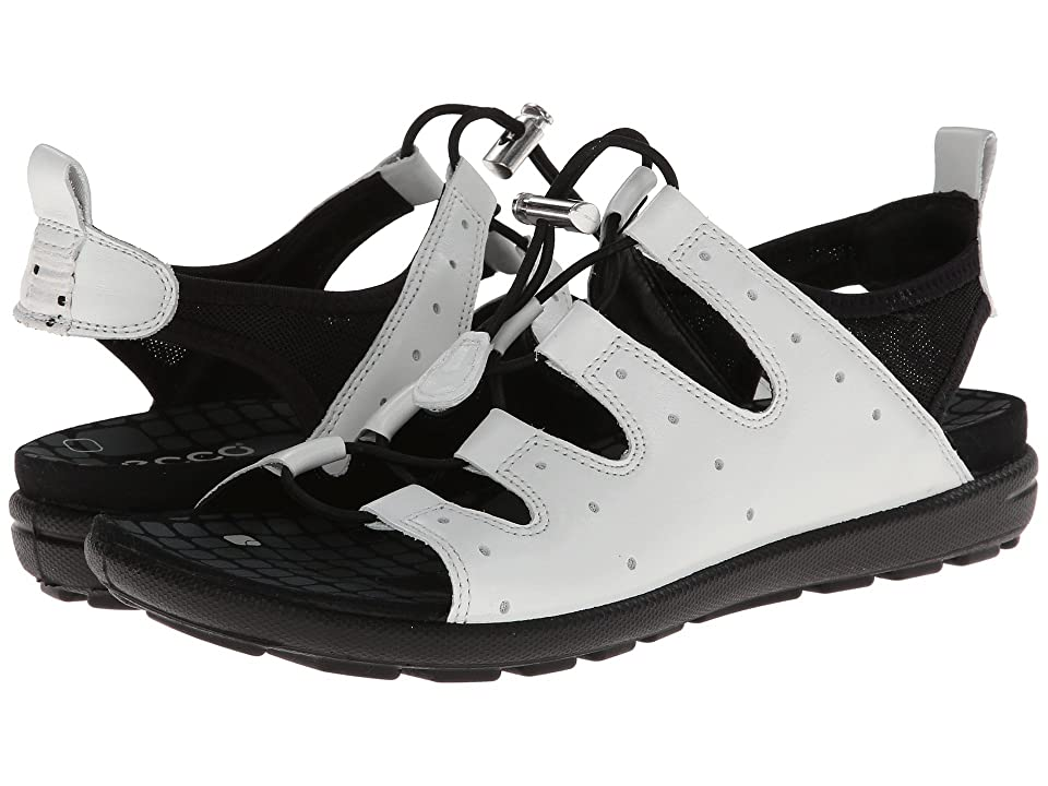 ECCO Jab Toggle Sandal (White/Black) Women