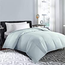 Blue Ridge Home Fashions 240 Thread Count Feather Down Comforter, Twin, gray