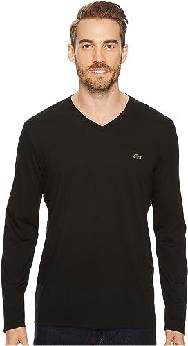 1447c323 Lacoste Long Sleeve Pima Jersey Crew Neck T-Shirt at Zappos.com