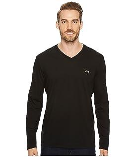 Long Sleeve Pima Jersey V-Neck T-Shirt