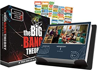 The Big Bang Theory 2020 Calendar, Box Edition Set - Deluxe 2020 The Big Bang Theory Day-at-a-Time Box Calendar with Over 100 Calendar Stickers (TBBT Gifts, Office Supplies)