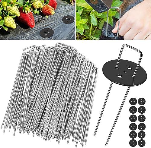 Piquets de Jardin, Wokkol Piquets de Fixation de Jardin, Piquets de Fixation Tente 2,5 mm d'épaisseur, 15 cm/2,5 cm, ...