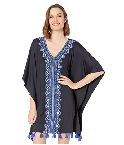Cabana Life Essentials Embroidered Cover-Up (Black) Women