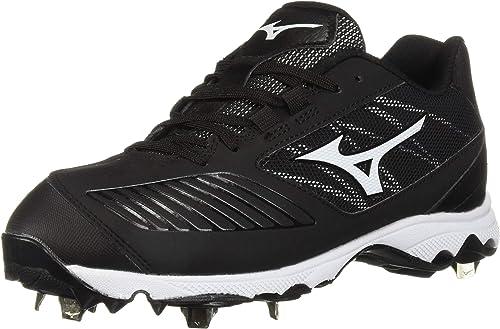Mizuno Wohommes Wohommes 9-Spike Advanced Sweep 4 Faible Metal Softball Cleat chaussures, noir blanc, 12 B US  pas cher et de la mode
