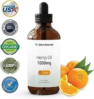 Start Naturals Hemp Oil 1000 mg | Best Hemp Oil for Pain, Stress and Anxiety Relief (4 Fl Oz (120 ml), Orange)