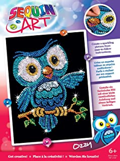 Sequin Art Red, Owl, Sparkling Arts and Crafts Picture Kit, Creative Crafts