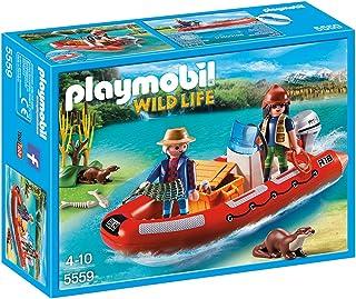 PLAYMOBIL - Bote Hinchable con exploradores (55590)