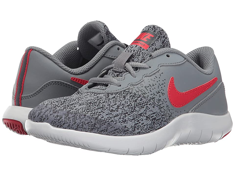 Nike Kids Flex Contact (Little Kid) (Cool Grey/University Red/Anthracite) Boys Shoes