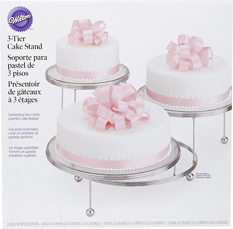 Wilton Cakes N More 3 Tier Cake Stand Silver