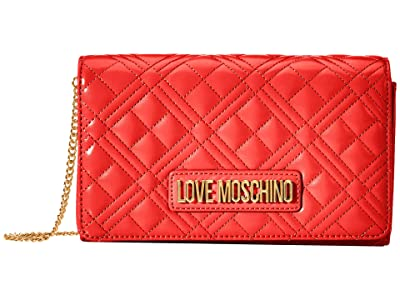 LOVE Moschino Quilted Crossbody (Red) Handbags