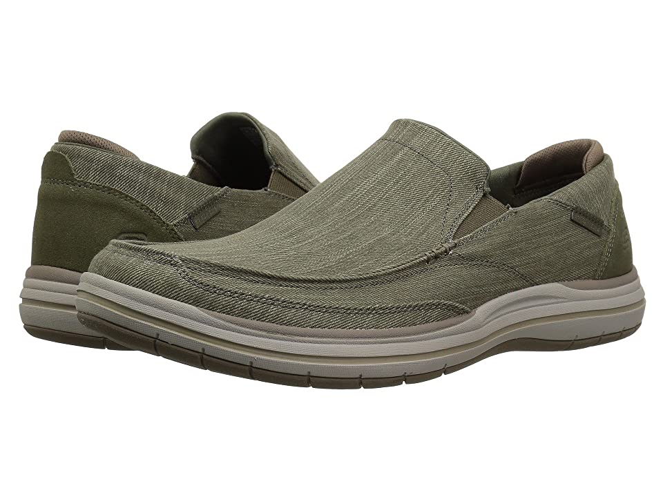 SKECHERS Classic Fit Elson Amster (Olive) Men