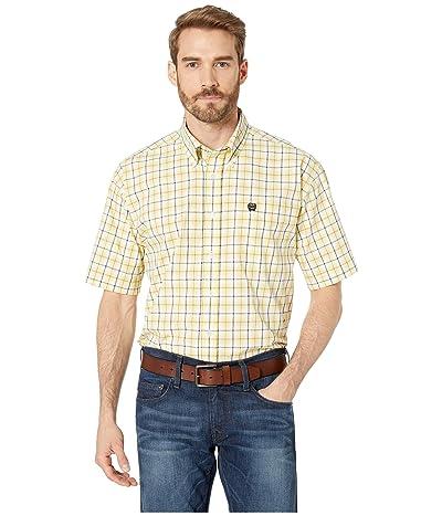 Cinch Short Sleeve Plaid (Yellow) Men