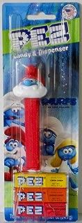Pez Candy & Dispenser Smurfs Papa Smurf Pez Dispenser with 3 Rolls of Pez Candy