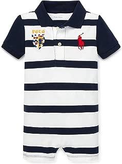 Baby Boys Striped Cotton Polo Shortall