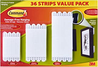 3M Command 36 Picture & Frame Hanging Strips Value Pack