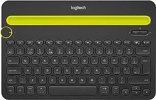 Logitech K480 Draadloos Toetsenbord, Multi-device, Windows/Apple iOS/Android/Chrome, Draadloos Bluetooth, ruimtebesparend ...
