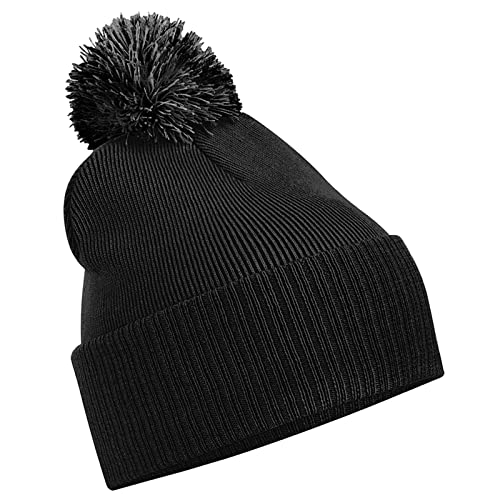 22d4e87a001 Beechfield Unisex Snowstar Duo Winter Knit Beanie Bobble Hat