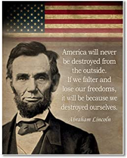 Gabby's Choice Abraham Lincoln Art print quote - 11 x 14 Unframed Wall Art Print - Great historic quote